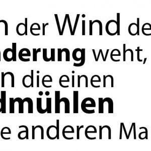 Stempel Sinnspruch Wenn der Wind