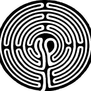 Stempel Symbol Labyrinth