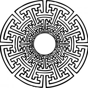 Stempel Symbol Maya Azteken