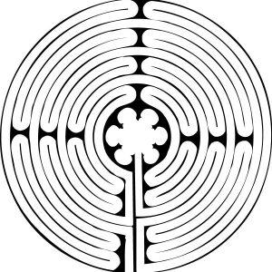 Stempel Symbol Labyrinth Chartres