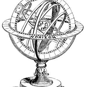 Stempel Globus, Armillarsphäre