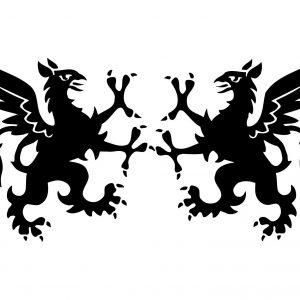 Heraldik Greif Stempel