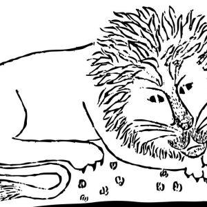 Stempel Tiere Löwe
