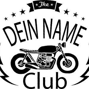 Motorrad Text Logo Stempel