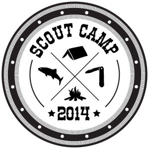 Personalisierbarer Logo Text Stempel Scout Camp