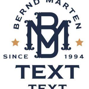 Monogramm Logo Text Stempel