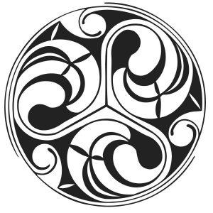 Keltische Triskel Spiralen Stempel