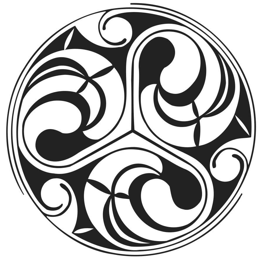 Keltischer Triskel Spiralen Stempel